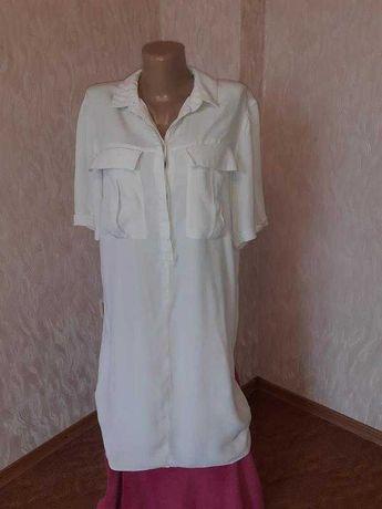 Летнее прямое платье - рубашка Warehouse. разм. 46-48