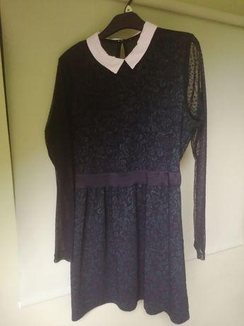 Sukienka koronkowo-tiulowa