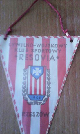proporczyk Cywilno-Wojskowy Klub Sportowy Resovia Rzeszów z 1975 r