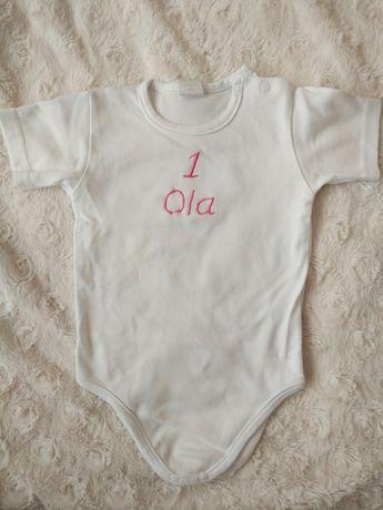 Body białe 80cm personalizacja Ola na 1 roczek