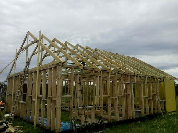 Uslugi budowlane, stawianie domu, fundamenty, sciany, budowa domu