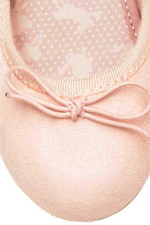 H&M pudrowe balerinki 26