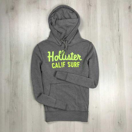Худи серое Hollister однотонный толстовка худи кофта свитер свитшот