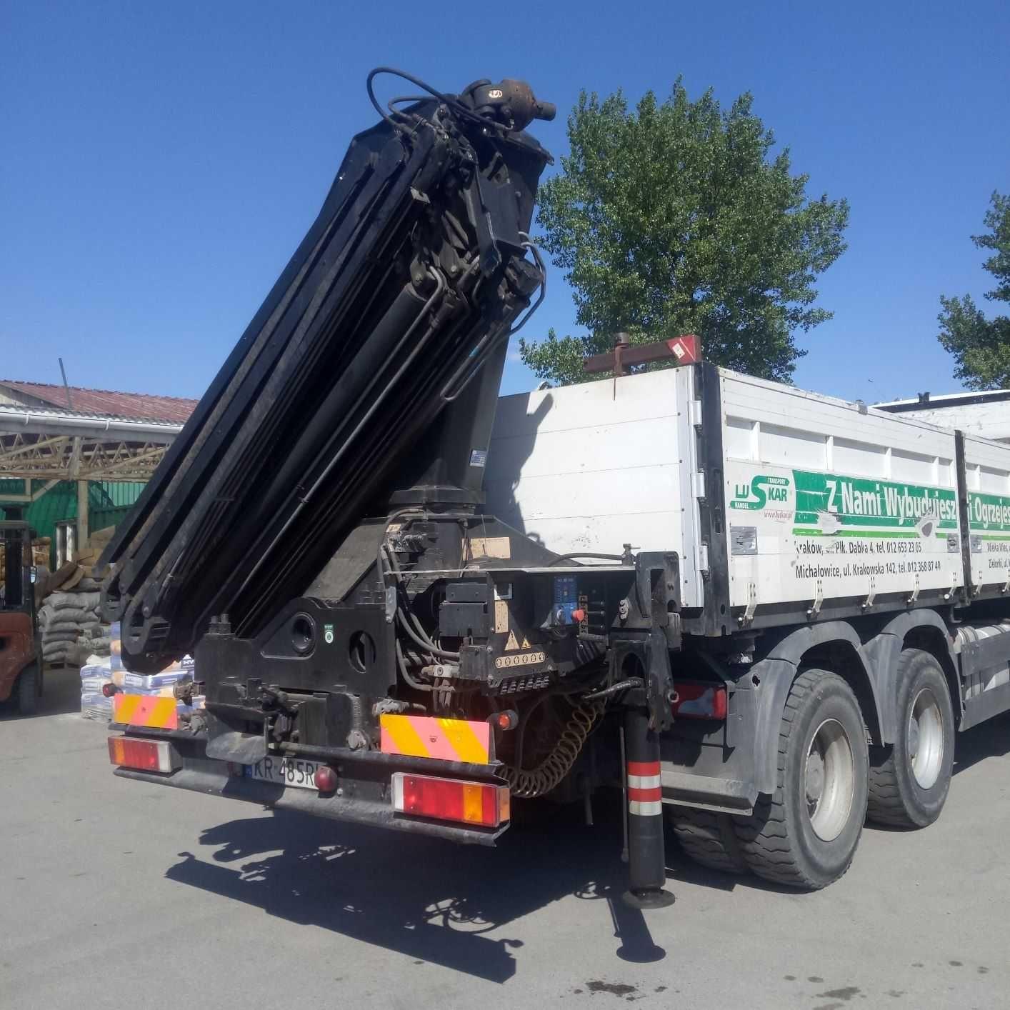 Usługi transportowe,  wynajem, HDS udźwig do 6 ton