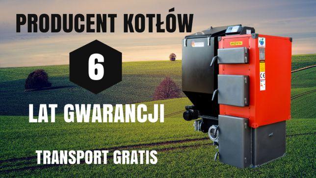 7 kW PIEC do 45 m2 Kocioł z PODAJNIKIEM na EKOGROSZEK KOTLY 4 5 6