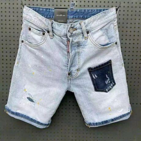 Dsquared2 with love light Marine shorts spodenki jeansowe D2#DENIM