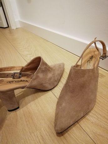 Sapatos Tapadas 38 beje