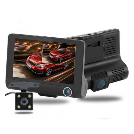 Авто видеорегистратор DVR SD319 LCD 4.0 Full Hd на 3 камеры автомобиль