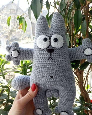 Вязаный кот Саймон. Амигуруми. Handmade. Вязанные игрушки На присосках