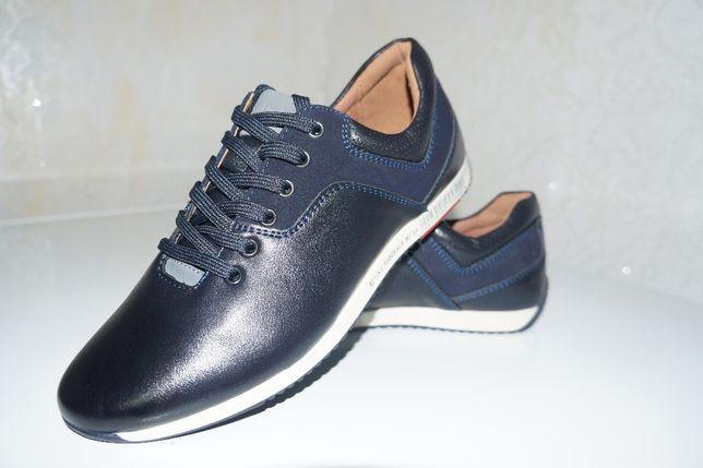 Кроссовки туфли черные для мальчика 39 р.