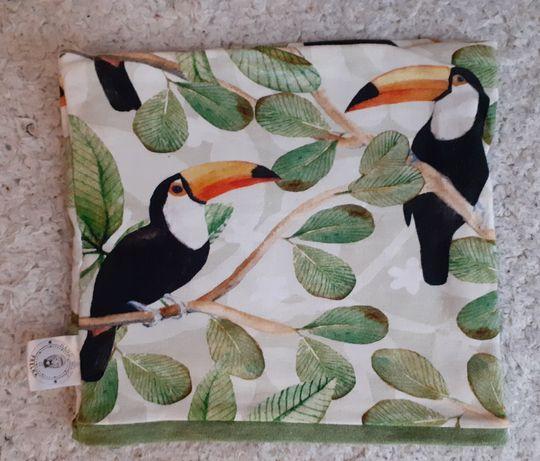Komin dziecięcy tukany flamingi ptaki 2 różne