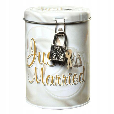 Skarbonka weselna puszka Just Married
