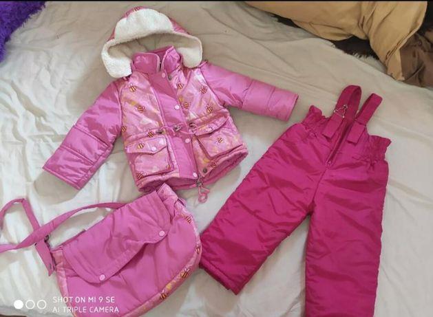 Зимний комплект 3/1. Зимний комбинезон, зимняя куртка