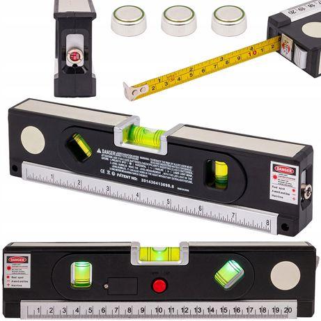 Poziomica laserowa z miarką 150cm miara laser led (BUD58)