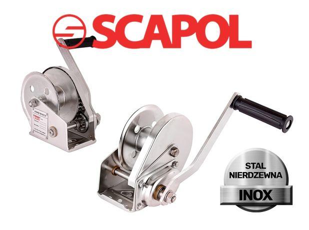 Ręczna wciągarka linowa 550 kg JC-S - Stal Nierdzewna INOX