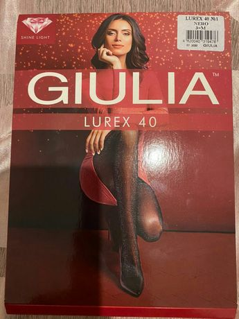 Колготки Giulia Lurex 40 den, черные, р. 3M
