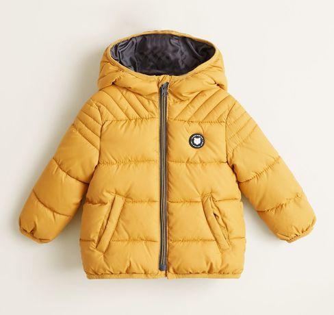 Zimowa, ocieplana kurtka chłopięca Mango rozmiar 80