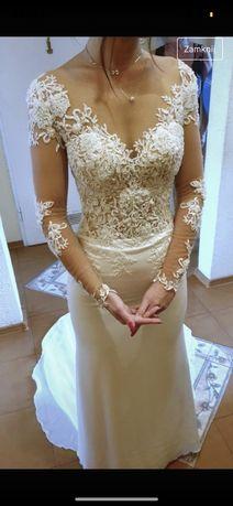 Suknia ślubna Madonna 32/34 milla nova wanessa na szczupłą syrena