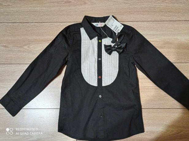 NOWA piękna koszula bluzka elegancka ala frak mucha H&M 122
