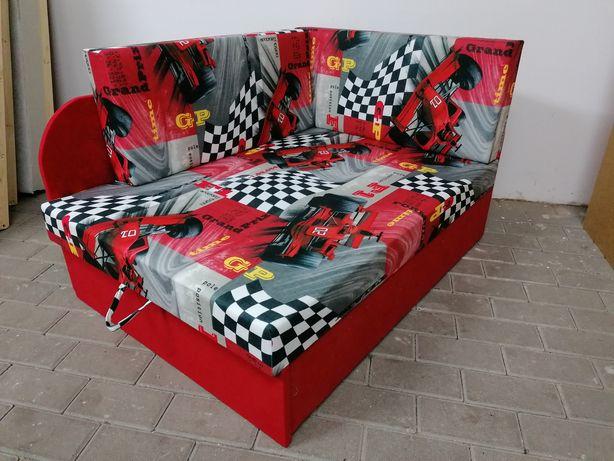 Sofa dla dzieci łóżko rozkładane z pojemnikiem na pościel Dostawa