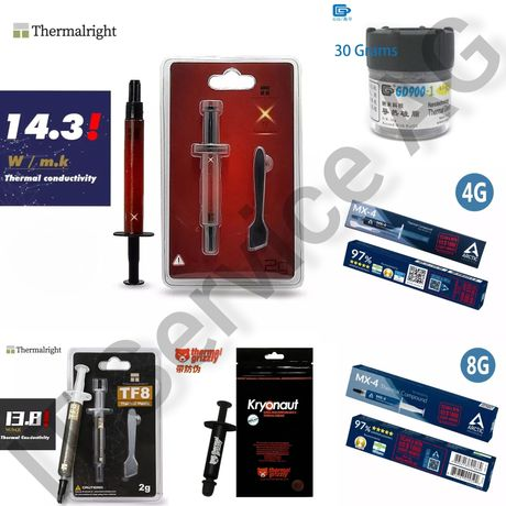 Термопаста GD900-1 Arctic МХ-4 Grizzly Kryonaut Thermalright TFX TF8