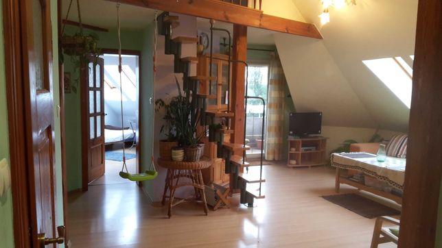 Mieszkanie z antresolą 100m2/73m2, ul. Szafrana, garaż w budynku