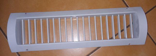 Kratka wentylacyjna metalowa dług 38 cm na rurę fi 150