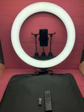 Профессиональная Кольцевая LED лампа ZB-F488 55см 80Вт +штатив+сумка
