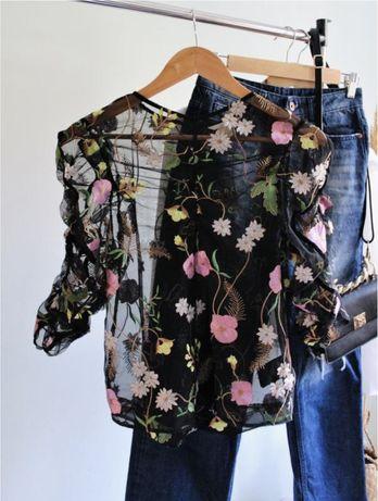 Блуза с вышивкой H&M