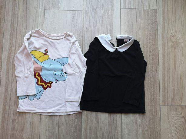 Bluzki Zara z długim rękawem