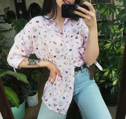 Koszula medicine różowa wzorki s