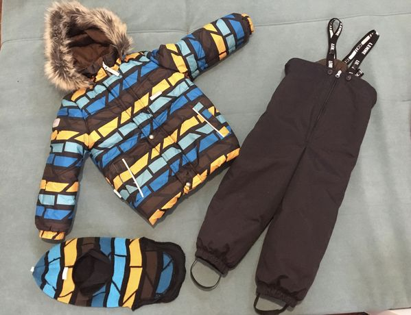 Комплект Lenne ,комбинезон и куртка (104+6) шапка-шлем 52 р