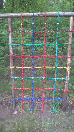 Plac zabaw siatka do wspinaczki wspinaczkowa małpi gaj 1,25 X 2 m 16mm