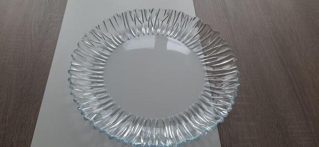 Блюдо круглое стеклянное (новое)