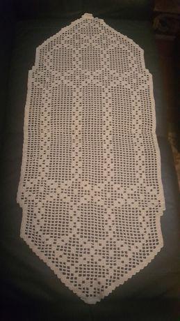 Pano bordado antigo - Cor branco