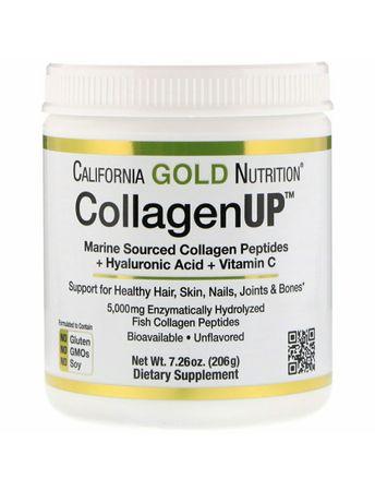 Морской коллаген California Gold Nutrition, Collagen UP, 206г = 40 пор