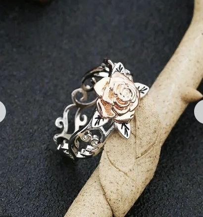 Pierścionek róża 925 Sterling Silver