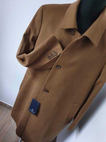 Nowy ekskluzywny płaszcz wełniany męski Schneiders
