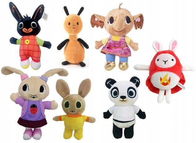 Mega zestaw maskotek z bajki Bing Sula Flop Panda Coco Charlie, 7 szt