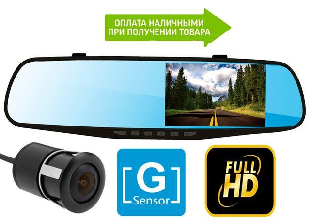 Зеркало видеоРегистратор Blaсbox на 2 камеры, FullHd, G-Sensor +камера