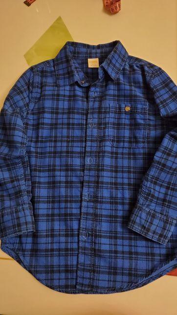 Плотная вельветовая рубашка Gymboree мальчику 5-7 лет