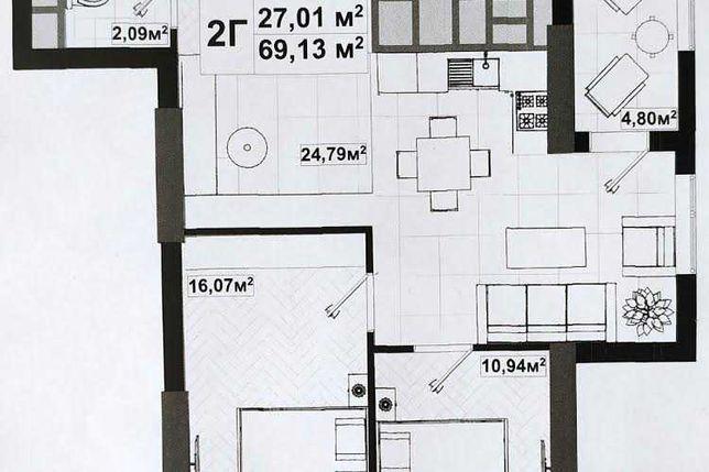 """Продается 2 к квартира по ул. Елены Телиги, 25 """"ЖК Uno City House"""""""