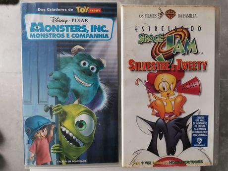 2 VHS Originais Disney e WB