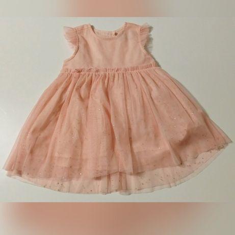 Sukienka tiulowa 5.10.15. rozm. 74