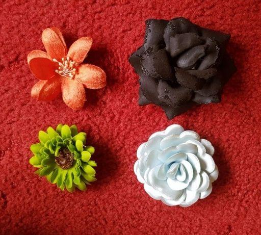 Kwiaty spinki i gumki do włosów