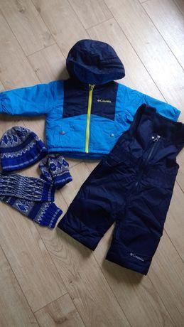 Деми комплект комбинезон куртка Columbia + шапка, шарф, рукавицы Next