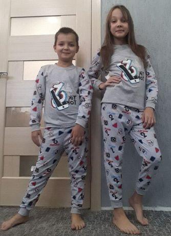 Пижама. Домашний костюм. для Мальчика и Девочки. Тик-Ток. на 4 - 5 ле