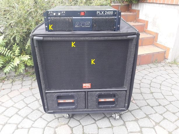 Pol-Audio DJ2000 + ADS PLX2400 - kompletny zestaw nagłośnienia