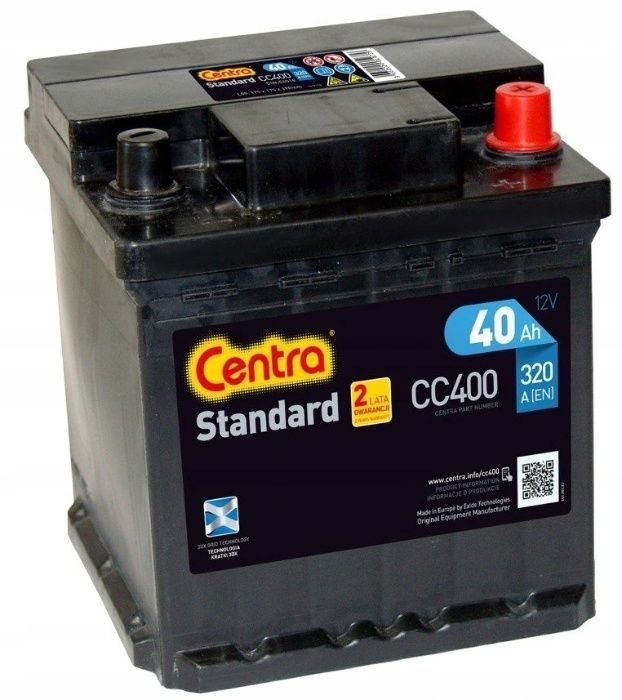 Akumulator Centra Standard CC400 40Ah 320A P+ Kraków EC400 Kraków - image 1