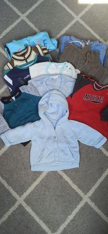 Sweter, bluza chłopięca 62/68 wiosna zestaw wiosenny 10 sztuk